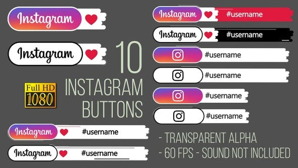 Thumbnail for Instagram Buttons FullHD