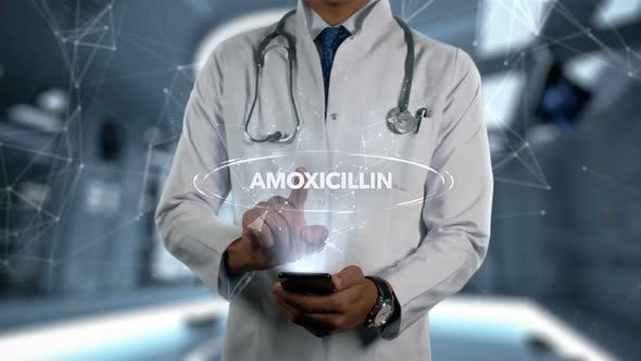 Thumbnail for Amoxicillin Male Doctor Hologram Medicine Ingrident