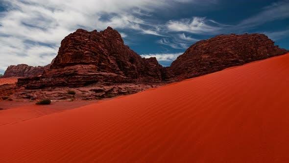 Thumbnail for Wadi Rum Desert Landscape at Sunset, Jordan
