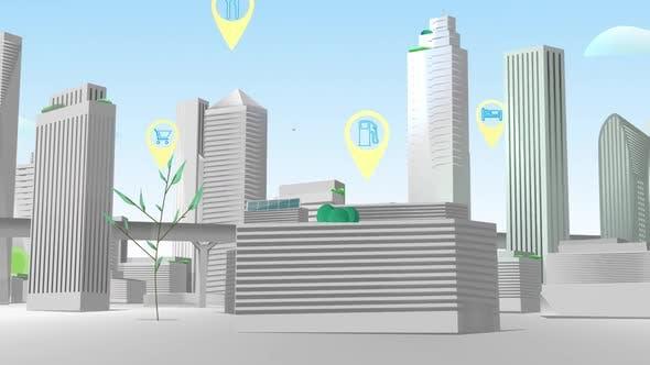 Smart City - Navi Directions Netzwerk