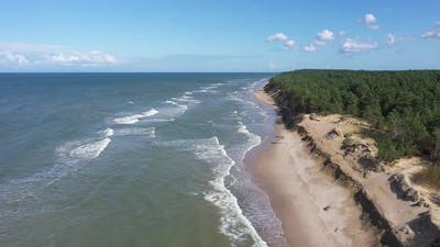 Drone Footage of Baltic sea shoreline