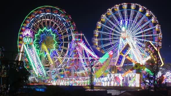 Thumbnail for Lighting Ferris Wheel in the Night