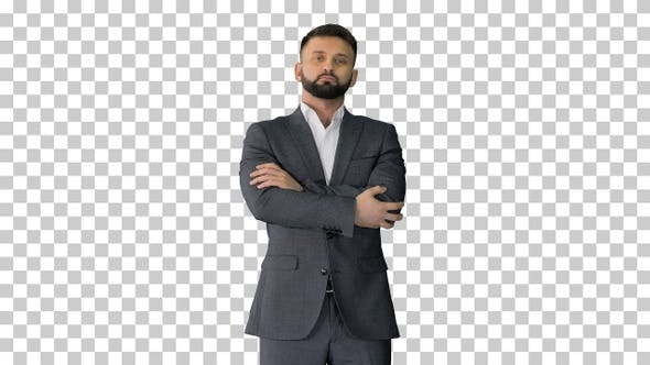 Thumbnail for Confident business man with beard and, Alpha Channel