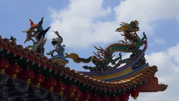 Thumbnail for Kuala Lumpur - Chinese Temple - Decoration Dragon