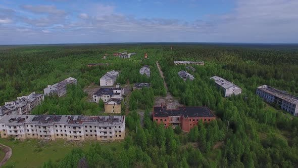 Abandoned Town Overgrown With Forest