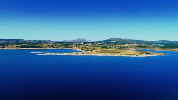 Thumbnail for Aerial View Of Lake In Desert Landscape