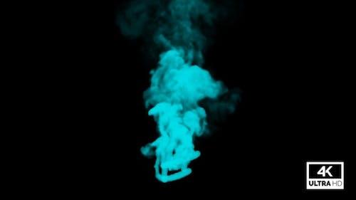 Cyan Smoke Trails