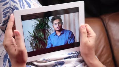 Online Consultation with Doctor on Digital Tablet