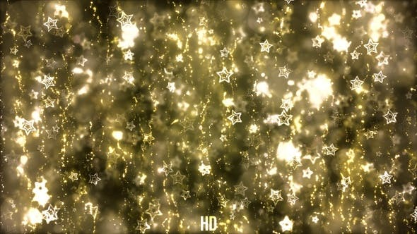 Thumbnail for Gold Christmas Stars Background