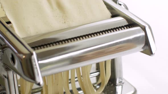 Thumbnail for Homemade Making Pasta on a Cutting Machine