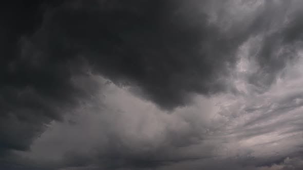 Thumbnail for Dark Storm Clouds Are Moving Fast, Timelapse