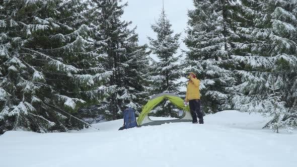 Thumbnail for Traveller Near a Tent