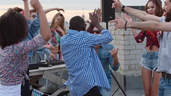 Thumbnail for African American Guy Rocking Rooftop Day Party