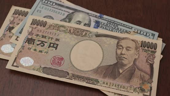 Thumbnail for Stack of American USD and Japanese Yen banknote