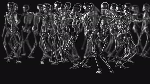 4K Chrom-Metallic-Tanz-Skelette