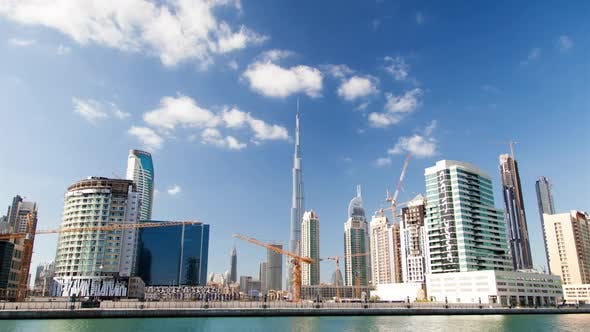 Thumbnail for Hyperlapse Along the Business Bay Embankment Overlooking the Burj Khalifa