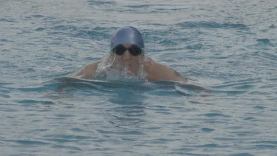 Thumbnail for Breaststroke Swimming Towards Camera