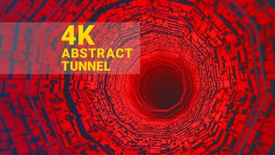 Abstract Colorful Tunnel