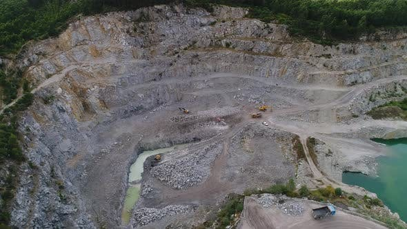 Thumbnail for Excavators And Trucks Working on Quarry