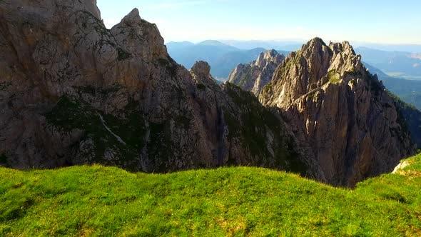 Dangerous Precipice in the Mountains