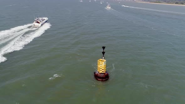 Thumbnail for South Cardinal Buoy Used for Ship Navigation and Guidance
