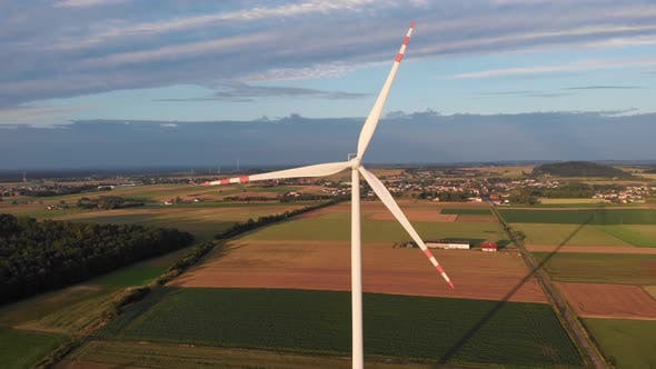 Thumbnail for Aerial Shot Of Windmill