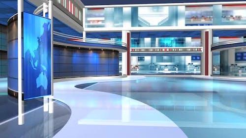 Virtual News Studio Set Background 543