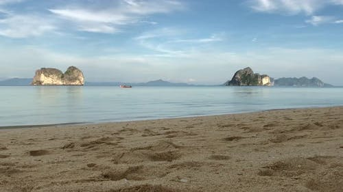 Empty beach in the evening on Koh Ngai island