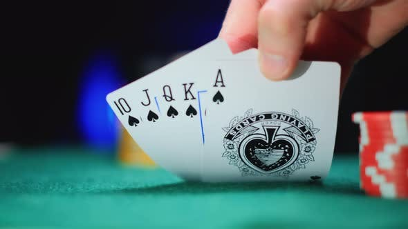 Poker Table During a Game