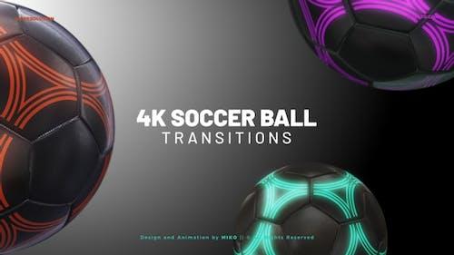 Soccer Ball Transitions 4K - Dark