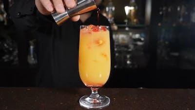 Preparing Cocktail