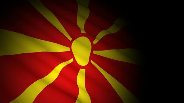 Thumbnail for Macedonia Flag Blowing in Wind