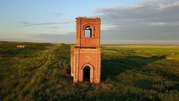 Thumbnail for Abandoned Red Brick Church Ruins 2