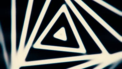 Optical illusion of black and white triangles