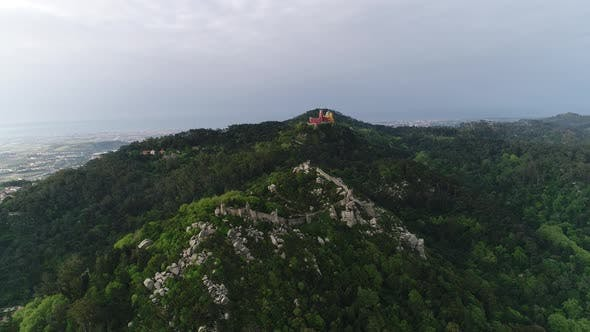 Thumbnail for Aerial View Of Castle and Palace on Sintra, Portugal