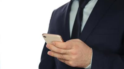Businessman Online Payment with Smartphone