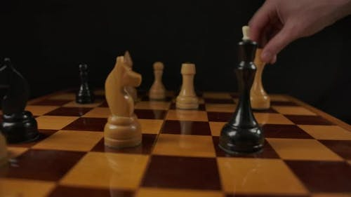 The Chess Player Checkmate with White Queen to the Black King