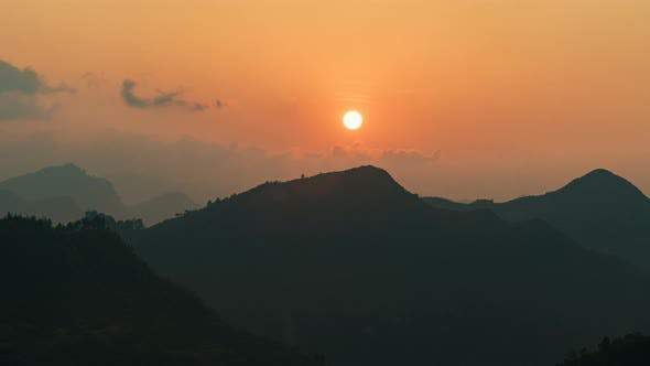 Thumbnail for Lung Cu, Vietnam | Sunset from Lung Cu as seen from the Flag Point Close up