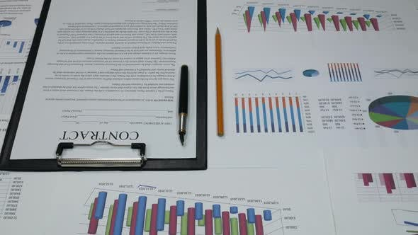 Thumbnail for Geschäftspartnerschaftsverträge und Geschäftsdiagramme