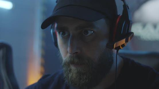 Thumbnail for Man Playing at a Gaming Tournament