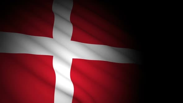 Thumbnail for Denmark Flag Blowing in Wind