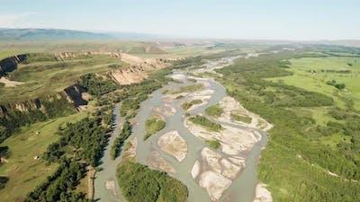 Grassland and river