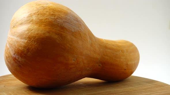Pumpkin on a Kitchen Board