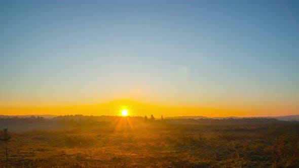 Thumbnail for Sunrise and autumn landscape