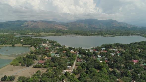 Thumbnail for Tropical Landscape, Mountains, Lake
