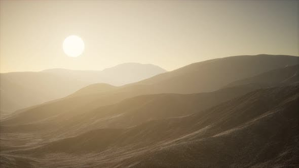 Thumbnail for Mountains Landscape in Afghanistan at Sunset