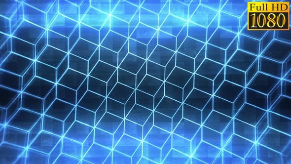 Geometric Retro Background Vj Loops V1