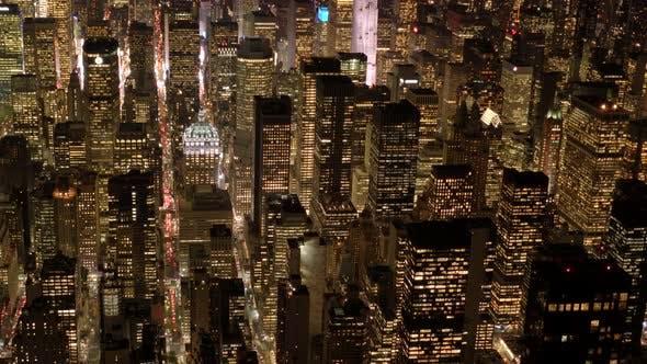 Thumbnail for Cityscape Skyline Buildings at Night Light