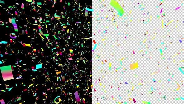 Thumbnail for 3d Flight in Multicolored Confetti