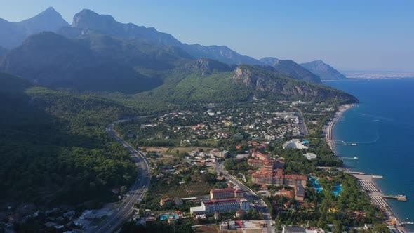 Cover Image for Aerial View Beldibi Village Turkey